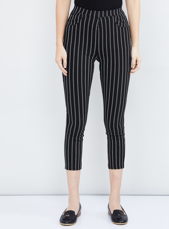 MAX Cropped Slim Fit Trousers