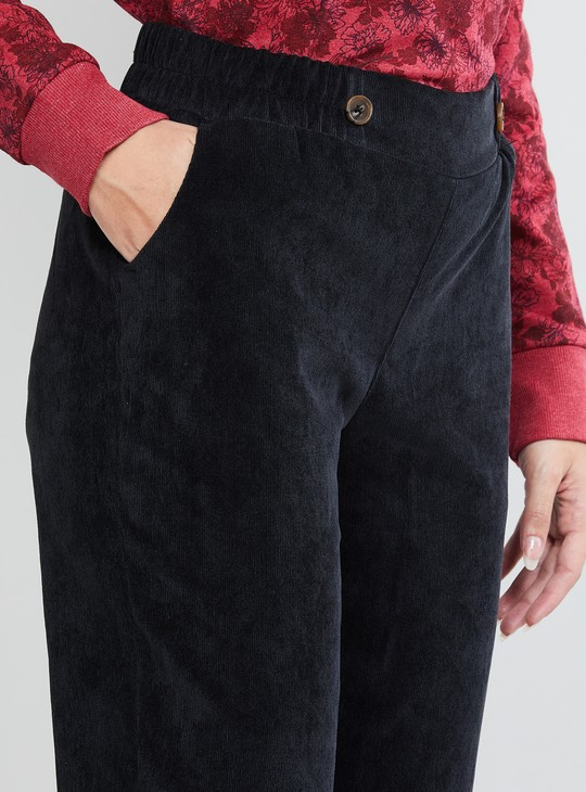 MAX Textured Cropped Trousers