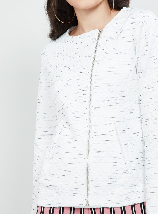 MAX Textured Zip-Closure Sweatshirt