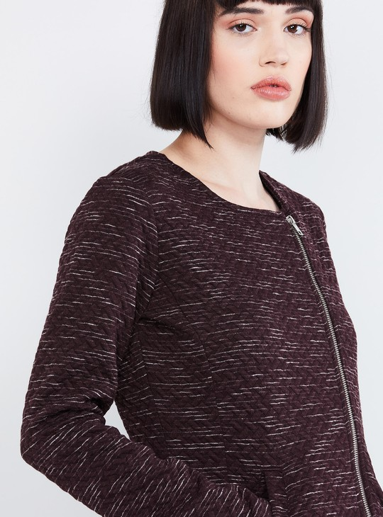 MAX Textured Zip-Closure Sweatshirt