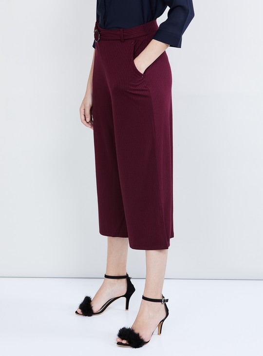 MAX Striped Culottes with Belt