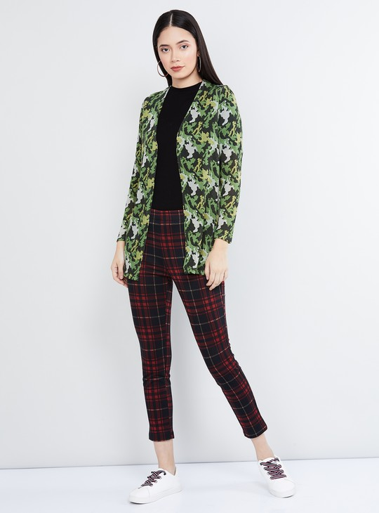 MAX Printed Open-Front Jacket