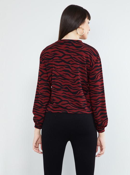 MAX Printed Full Sleeves Top