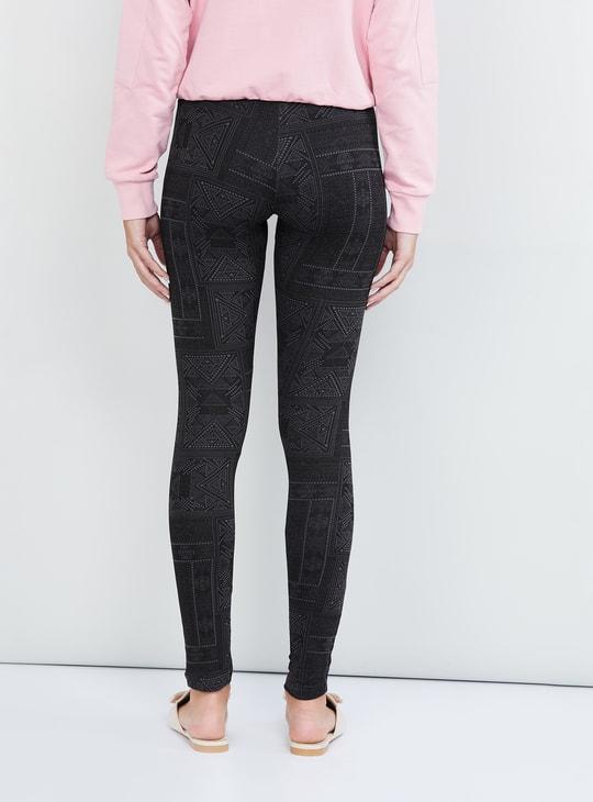 MAX Printed Skinny Fit Leggings