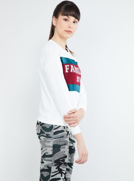 MAX Printed Drop-Shoulders Sweatshirt