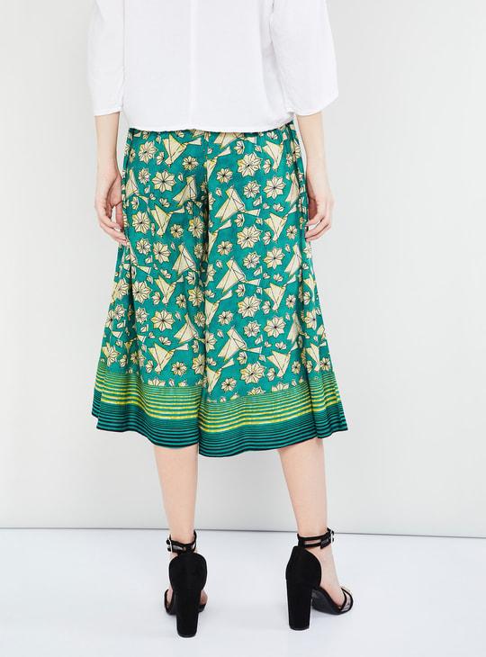 MAX Printed Culottes with Drawstring Detail