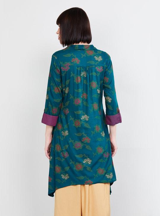 MAX Printed Asymmetric Hem Dress
