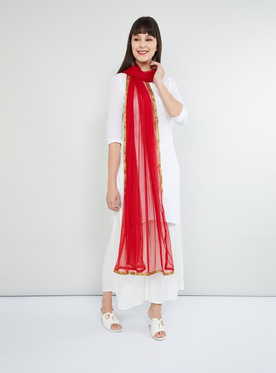 MAX Solid Dupatta with Contrast Taping