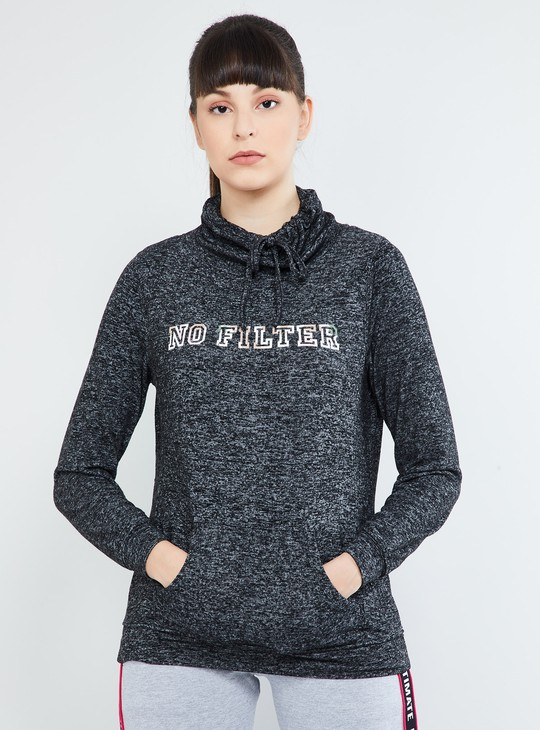 MAX Textured Kangaroo Pocket Sweatshirt