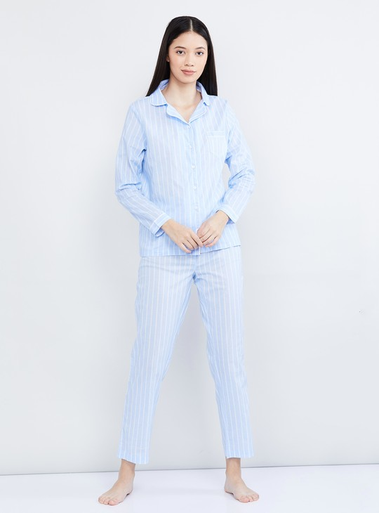 MAX Striped Shirt with Pyjamas