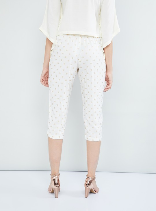 MAX Printed Woven Cropped Pants
