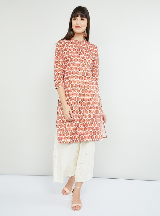 MAX Printed Kurta with Front Button Placket