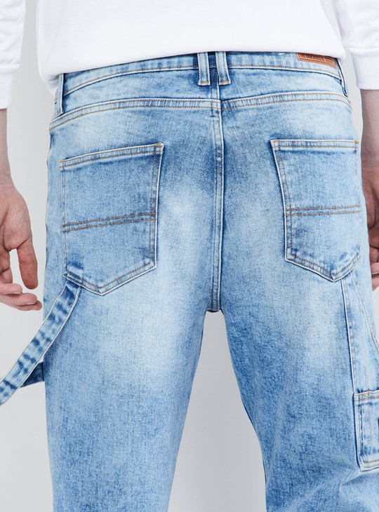 MAX Solid Stonewashed Carrot Fit Jeans