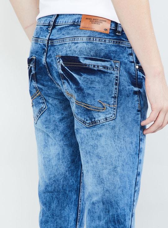 MAX Acid-Wash Slim Fit Jeans