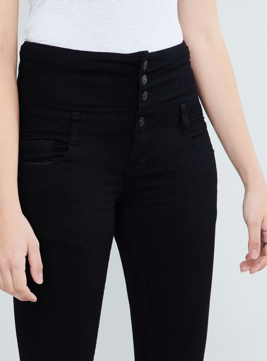 MAX Solid Skinny Fit Cropped Jeans