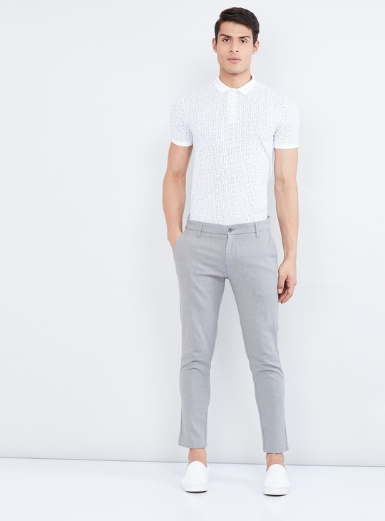MAX Textured Slim Tapered Trousers