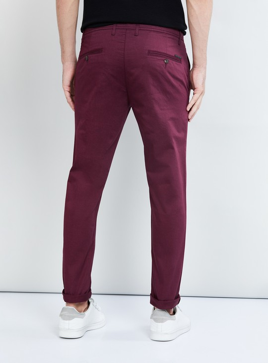 MAX Solid Slim Fit Casual Chinos