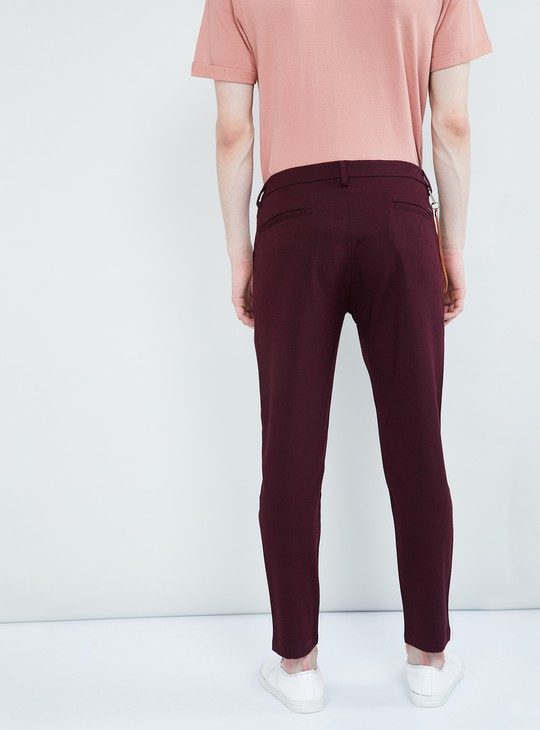 MAX Textured Low Rise Slim Fit Trousers