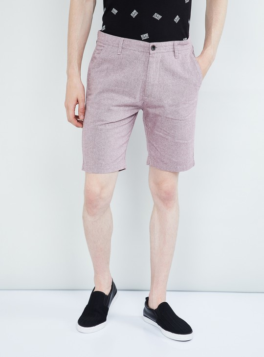 MAX Textured Regular Fit City Shorts