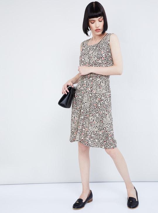 MAX Animal Print Knee-length Dress
