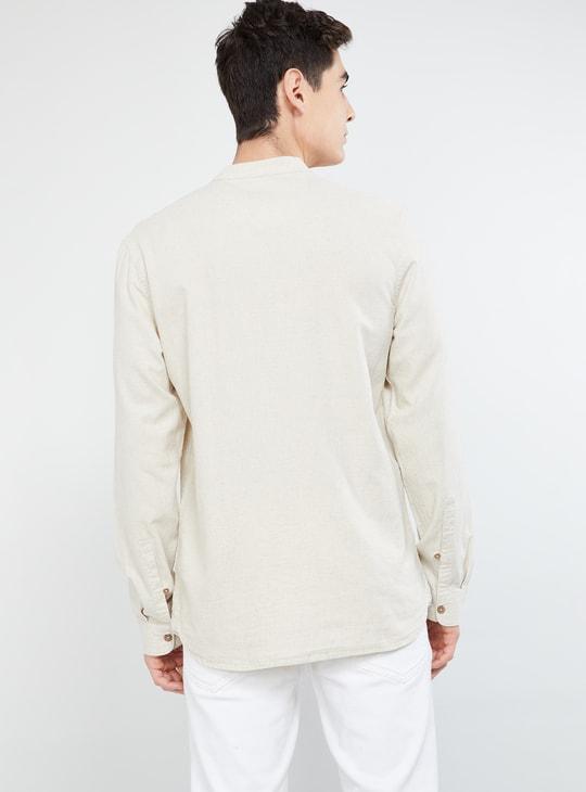 MAX Textured Side Buttoned Short Kurta