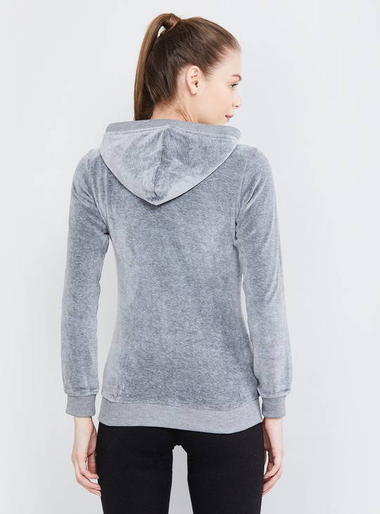 MAX Textured Hooded Jacket with Kangaroo Pockets