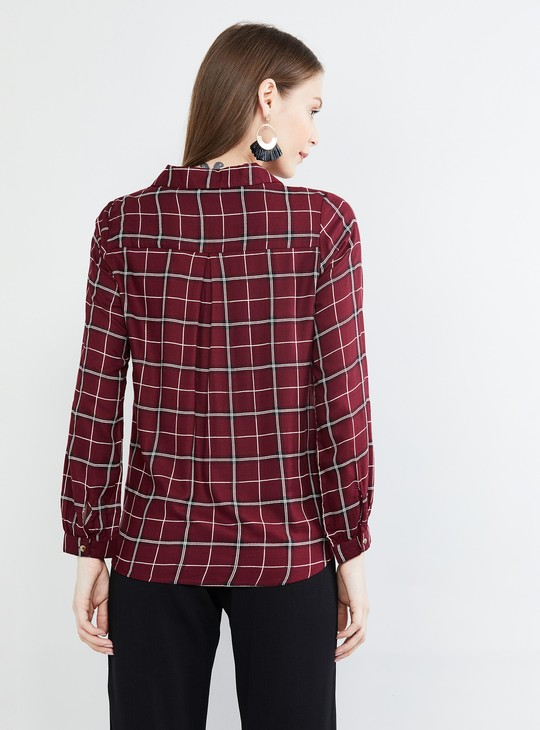 MAX Checked Full Sleeves Top