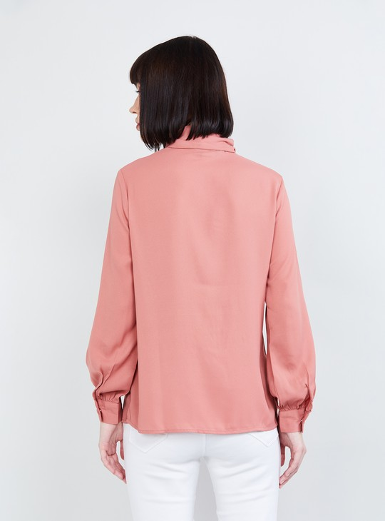 MAX Tie-Up Neck Full Sleeves Top