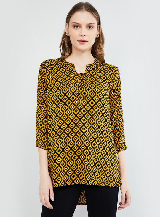 MAX Printed Three-quarter Sleeves Tunic