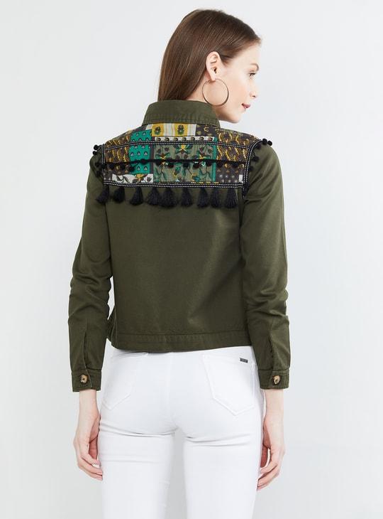 MAX Printed Tasselled Jacket