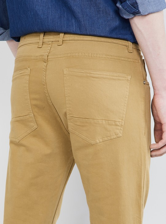 MAX Solid Low Rise Slim Fit Chinos