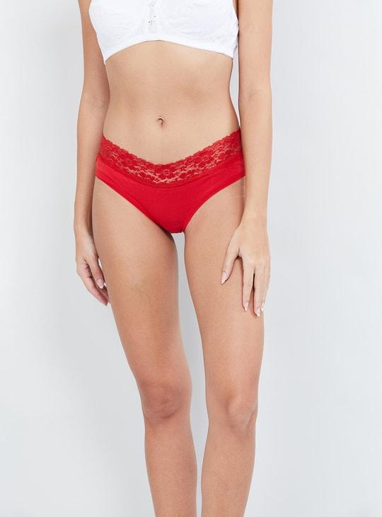 MAX Solid Lace Detail Panties - Set of 2 Pcs.