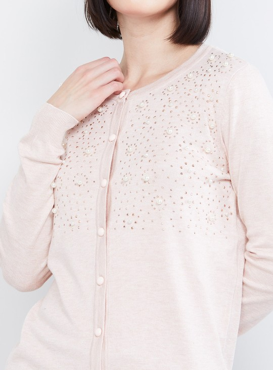 MAX Studded Cardigan with Beads