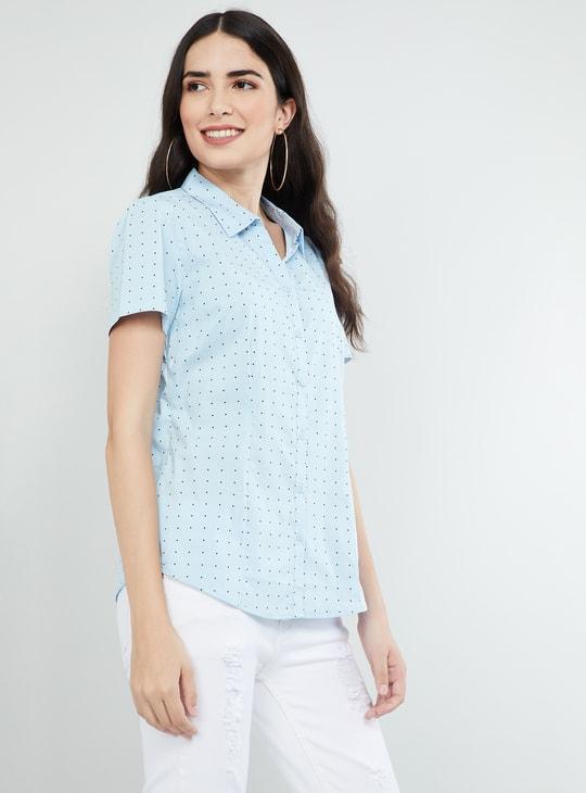 MAX Polka-Dot Print Short Sleeves Shirt
