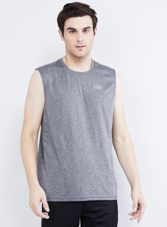 MAX Solid Sleeveless T-shirt