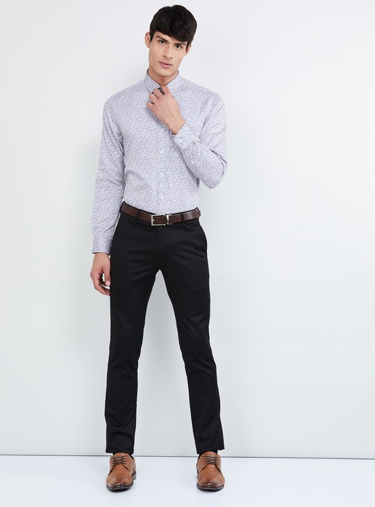 MAX Floral Print Slim Fit Formal Shirt