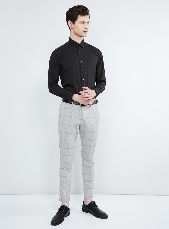 MAX Solid Full Sleeves Slim Fit Shirt