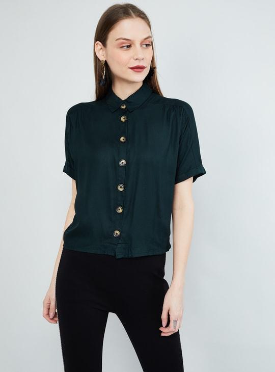 MAX Solid Short Sleeves Casual Shirt