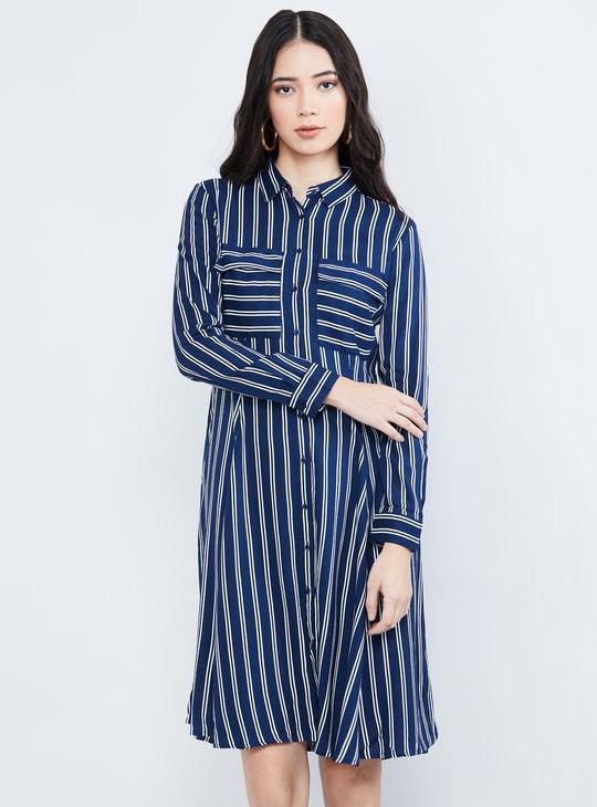 MAX Printed Full Sleeves Shirt Dress