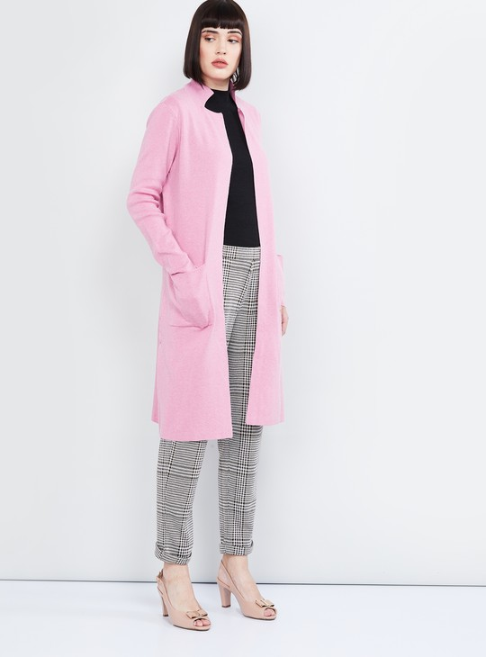 MAX Open-Front Sweater with Insert Pockets