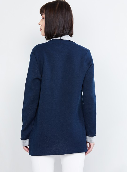 MAX Solid Open-Front Cardigan