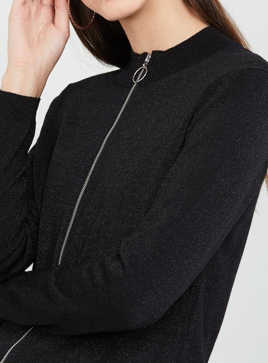 MAX Textured Zip-Front Jacket