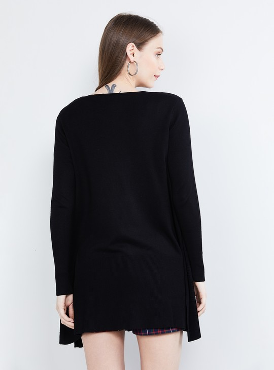 MAX Solid Shrug with Side Slits