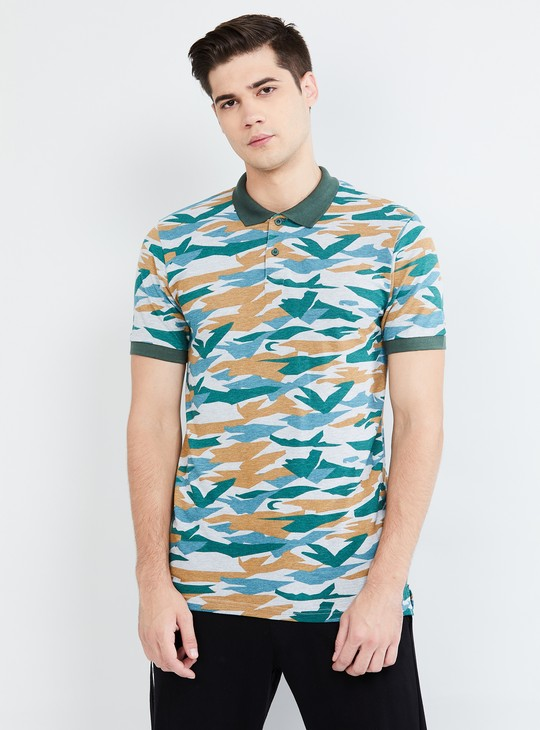 MAX Camouflage Print Polo T-shirt