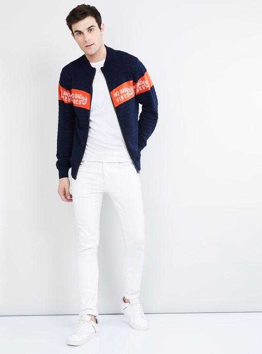 MAX Typographic Print Zip-Up Sweatshirt