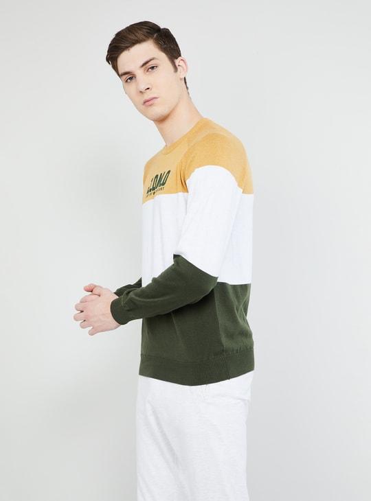 MAX Colourblocked Crew Neck Sweater