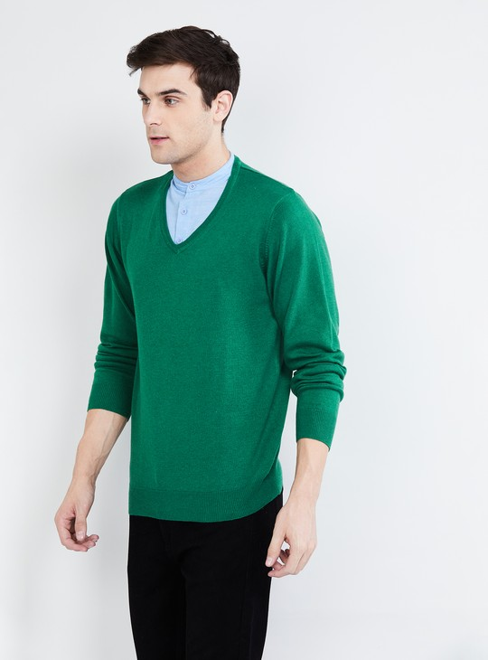 MAX Solid Collared Sweater