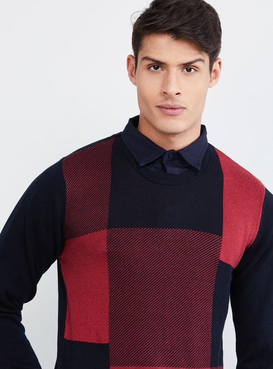 MAX Colourblock Crew-Neck Sweater