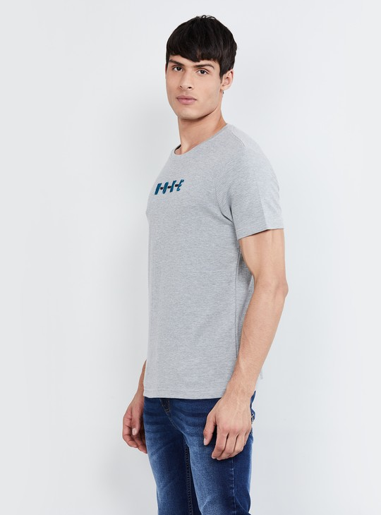MAX Typographic Print Heathered T-shirt