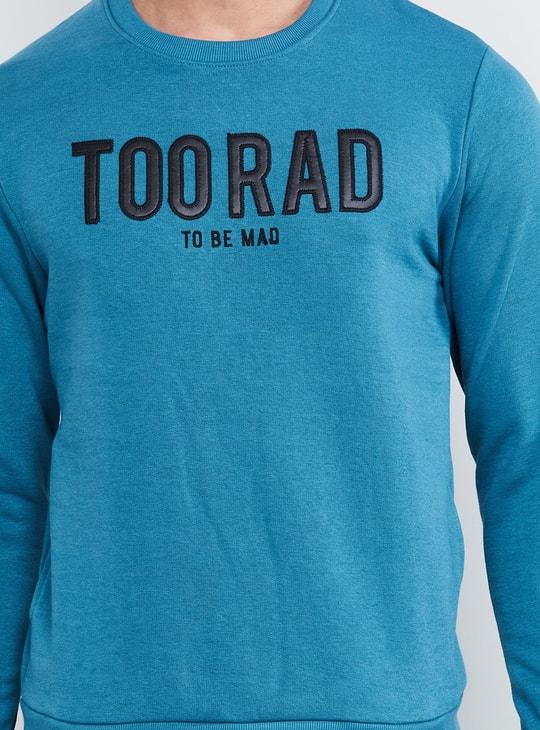 MAX Typographic Print Crew-Neck Sweatshirt
